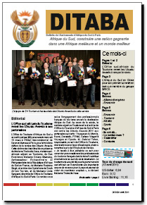 Ditaba n 75 - le bulletin mensuel d'information de l'Ambassade d'Afrique du Sud
